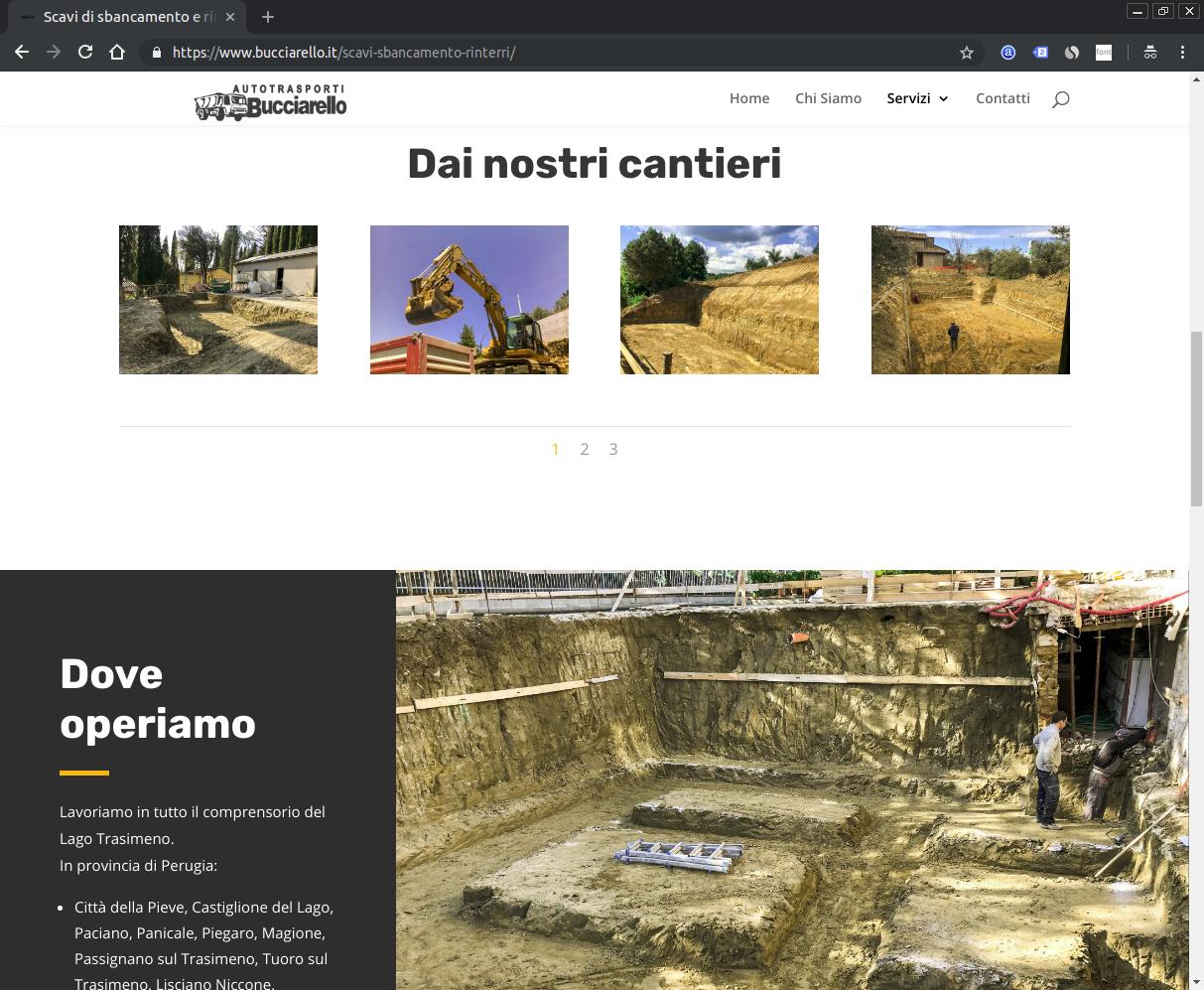 Screenshot del sito Bucciarello