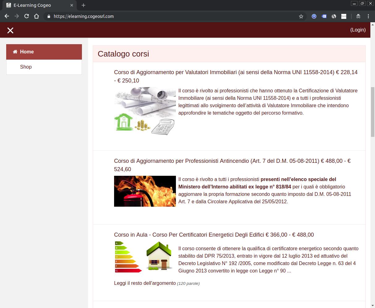 Screenshot del sito Cogeo