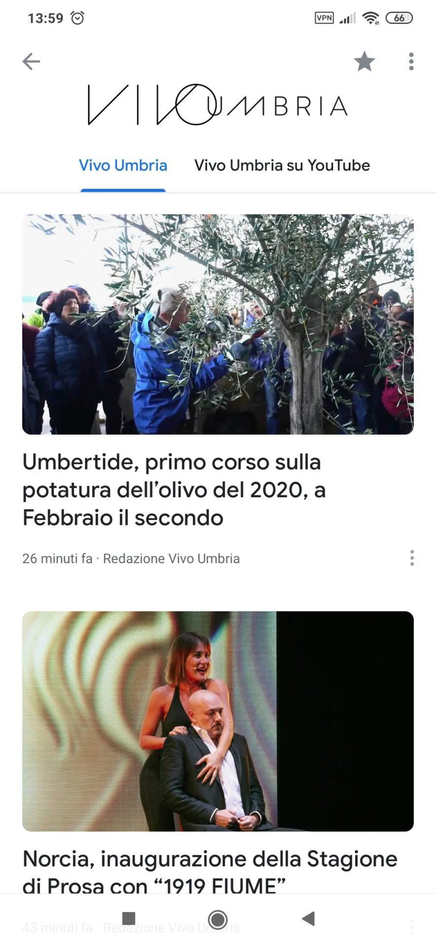 Vivo Umbria su Google News